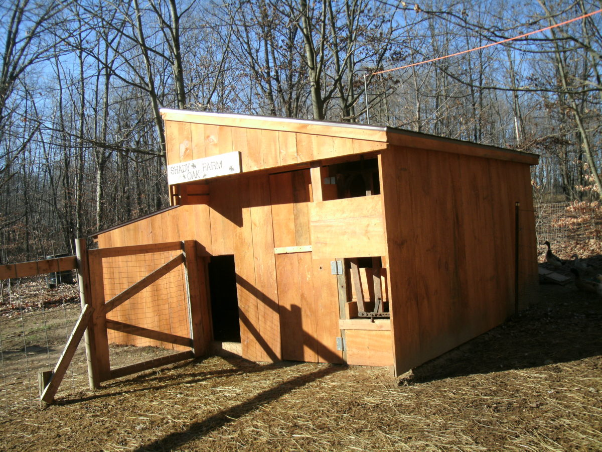 A goat barn that is just the right size for your needs